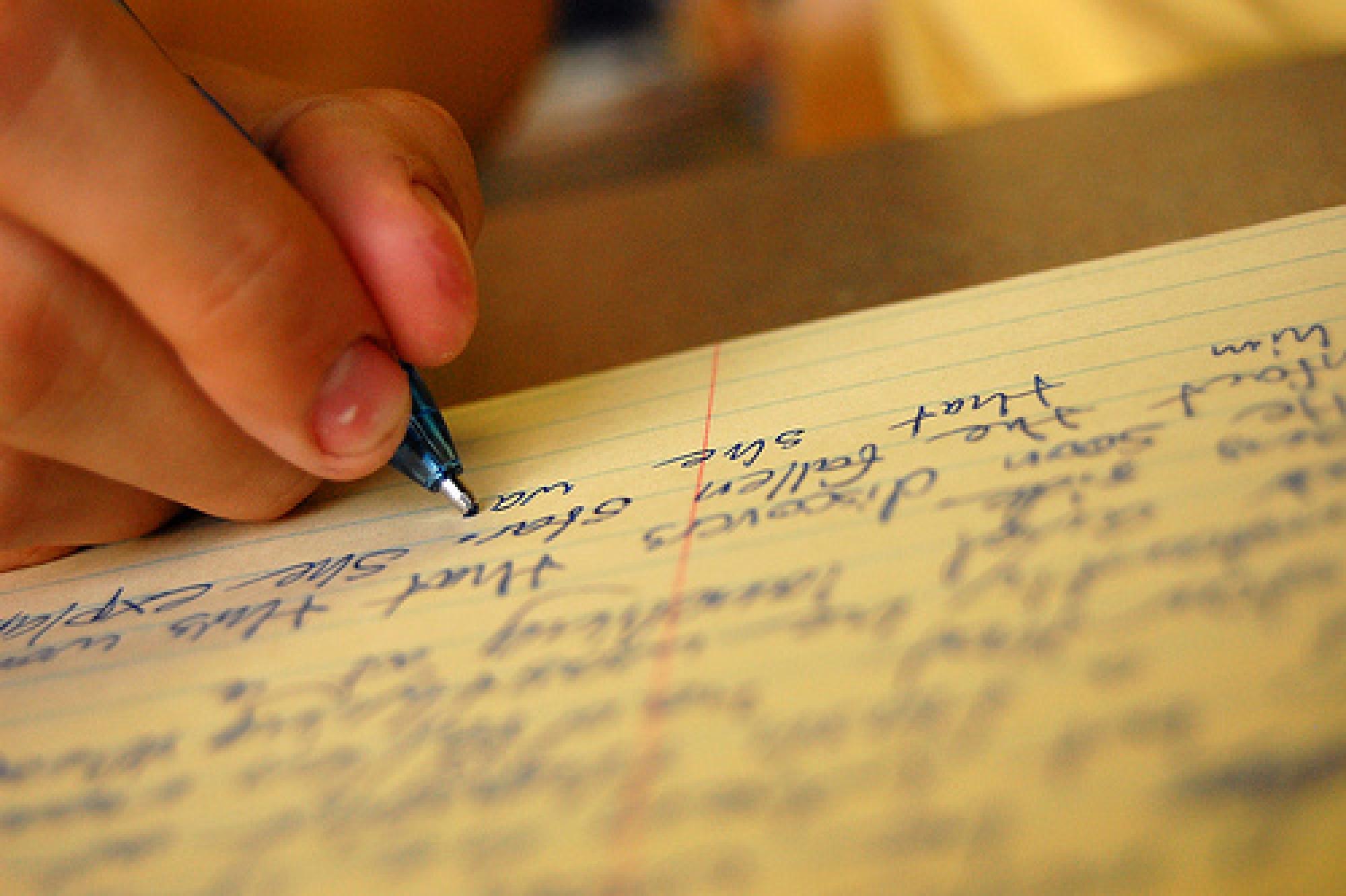 Писать сочинение картинка