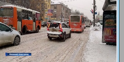Нижний Новгород парализовали самые большие пробки