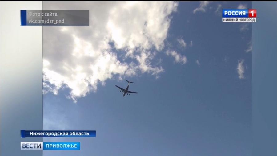 Самолет-амфибия тушил лесные пожары в Володарском районе
